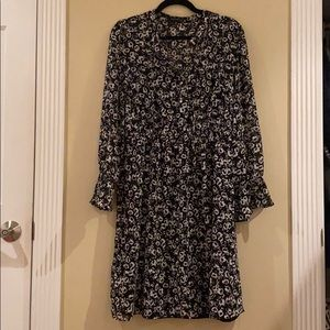 J.Crew Mercantile Black Floral Dress